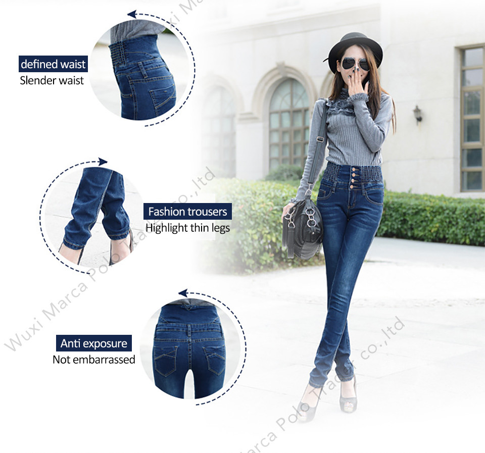 19 Jeans Womens High Waist Elastic Skinny Denim Long Pencil Pants Plus Size 40 Woman Jeans Camisa Feminina Lady Fat Trousers 8
