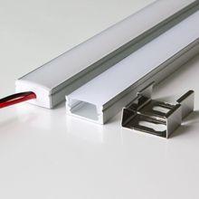 40m (20pcs) a lot, 2m per piece anodized aluminum profile extrusion for led flexible strips light CE &RoHs(China)