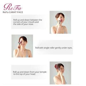 Image 5 - ReFa KARAT GESICHT Walze Massager Micro strom Kneten Massage Bewegung Behandlung Platin Überzug Wasserdicht Gesicht Heben