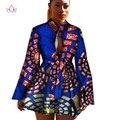 2017 Африканский Dashiki традиционный батик женщины пальто одеяние longue femme печать Базен Riche женщины пальто плюс размер 5xl регулярные WY1378