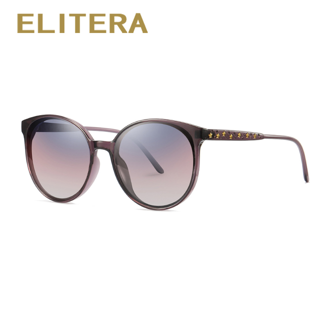 888708dfc7 ELITERA Fashion Round Womens Oversized Sunglasses Shades Brand Designer  Star Decoration Frame Eyewear UV400