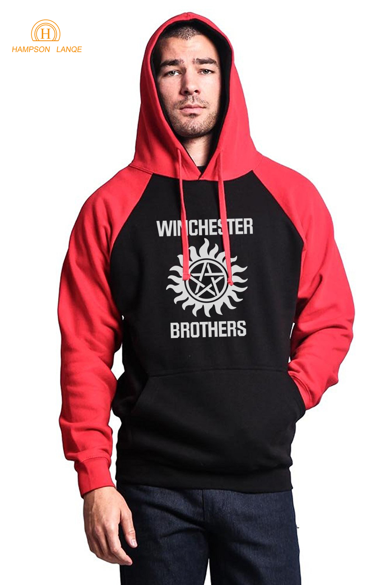 Winchester Brother Hipster Sweatshirts Hoodies Men 2019 Hot Autumn Winter Fleece Hooded Men Brand Sweatshirt Raglan Hooded S-XXL