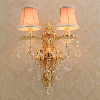 Gold Wall Sconce with lamp textile shade Modern Wall Lights for Bedroom Wall Sconces Living Room Crystal Wall Lamps for Reading