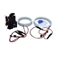1 SET (2X106mm Full rings+2X131mm Open rings)6000K 240 SMD White LED Angel Eyes For BMW E90 Auto Lighting