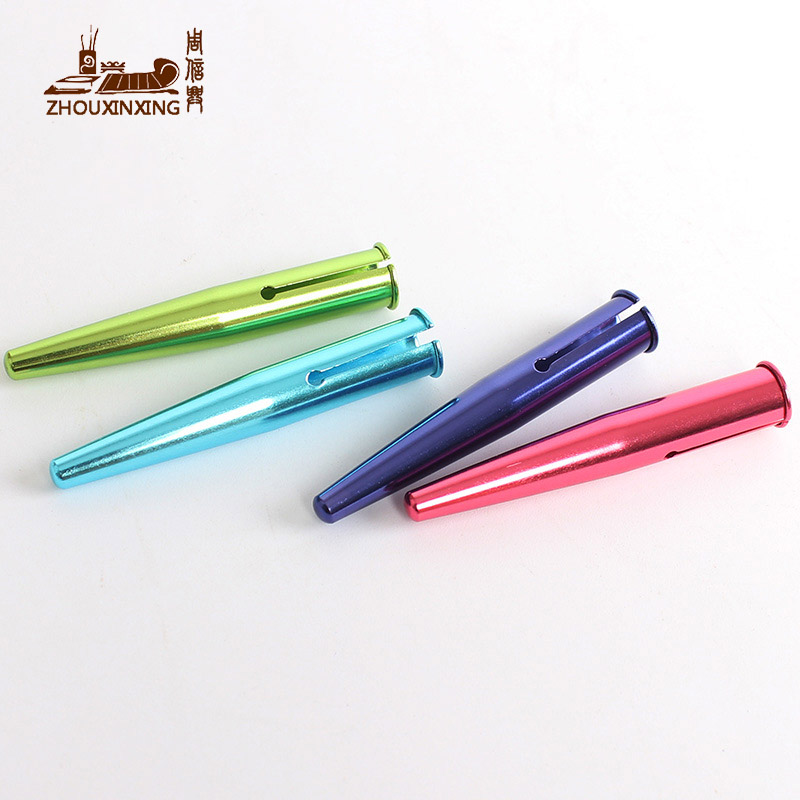 6 Color Suit Pencil Lengthener Metal Cap Extension Art Supplies Student School Stationery