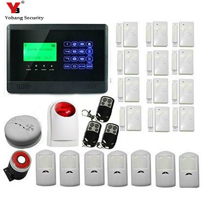 YobangSecurity Wireless GSM Autodial SMS Home House Security Burglar Intruder Alarm Siren Smoke Detector PIR Motion Door Sensor yobangsecurity touch keypad wifi gsm gprs home security voice burglar alarm ip camera smoke detector door pir motion sensor
