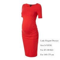 Gifts Maternity Dresses for Pregnancy Plus Size S-XXXL Office Lady Business Cocktail Party Dress Elegant Women Vestidos