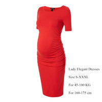 Gifts Maternity Dresses for Pregnancy Plus Size S-XXXL Office Lady Business Cocktail Party Dress Elegant Women Vestidos