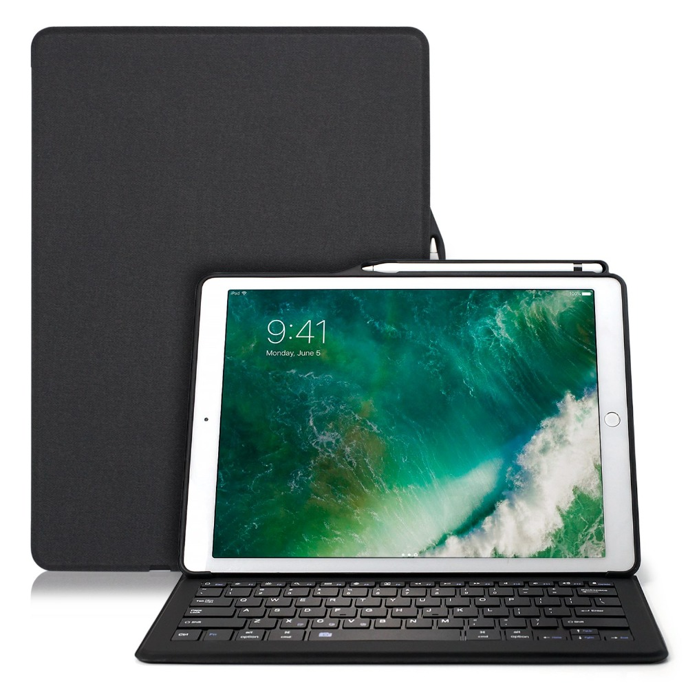 Para iPad Air, iPad Pro 10,5 caso Bluethooh teclado inteligente dormir Folio cubierta lápiz titular casos para iPad Air, iPad Pro 10,5 A1701 A1709 A1852 - 6