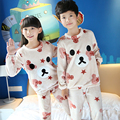 3-14 Year Children Pajama Sets Flannel Kids Pijamas Set Boys Sleepwear Girls Pyjamas Leisure Pyjamas Clothes For Baby Boys/Girls