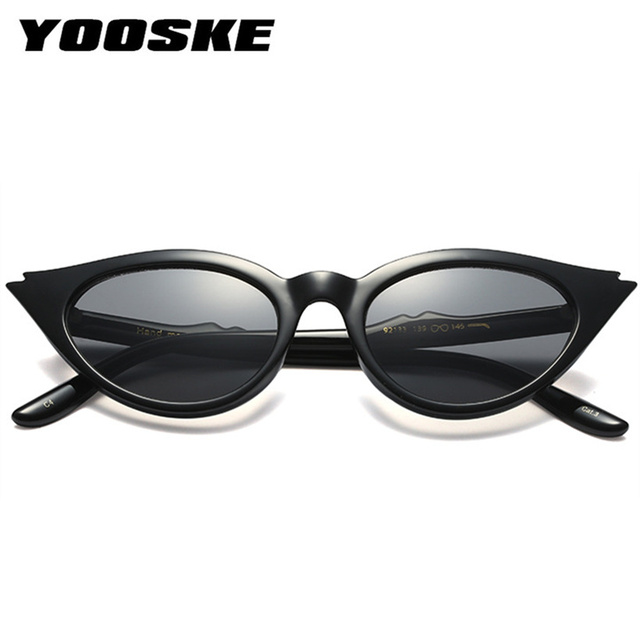 YOOSKE Cute  Retro Cat Eye Sunglasses Women Small Triangle Vintage  Sun Glasses  Female UV400