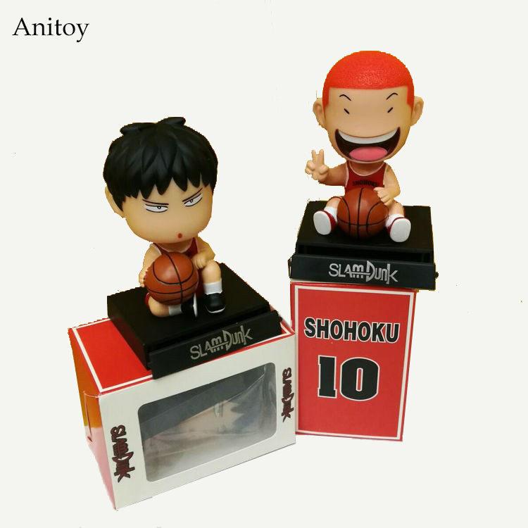 Slam Dunk Bobble Head 1/10 scale painted Hanamichi Sakuragi & Rukawa Kaede ACGN PVC Action Figure Collectible Model Toy KT2992 huong anime slam dunk 24cm number 11 rukawa kaede pvc action figure collectible toy model brinquedos christmas gift