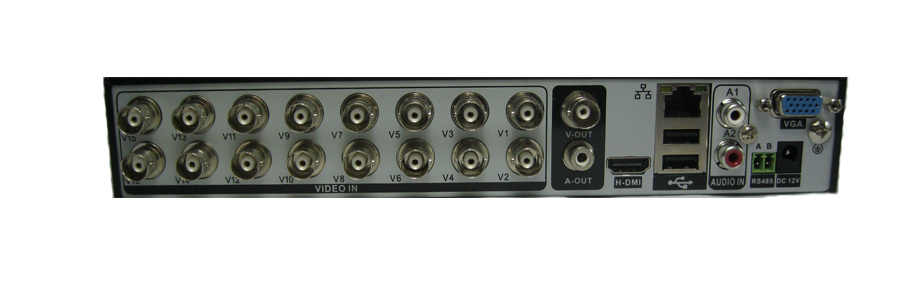800TVL 16ch DVR Kit Cctv-systeem met 4 stks IR Waterdichte CCTV Camera 800TVL, 16ch DVR Recorder android, iphone, netwerk view