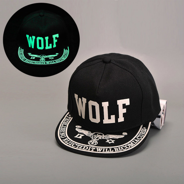 Chapeau de Baseball lumière verte | Nouveau modèle TFBOYS, chapeau lettre motif hommes et femmes, casquettes Hip Hop Noctilucent, chapeaux casquette en os