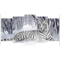 Zhui Star 5D DIY Diamond Painting Tiger Embroidery Full Square Diamond Cross Stitch Rhinestone Mosaic Decor