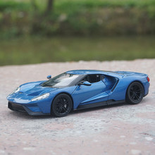1:24 Advanced alloy car models,high simulation 2017 Ford GT model,metal diecasts,collection toy vehicles,free shipping(China)