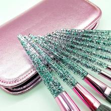 10Pcs Glitter Makeup Brushes Eyeshadow Eyelash Cosmetics Tool with Storage Bag