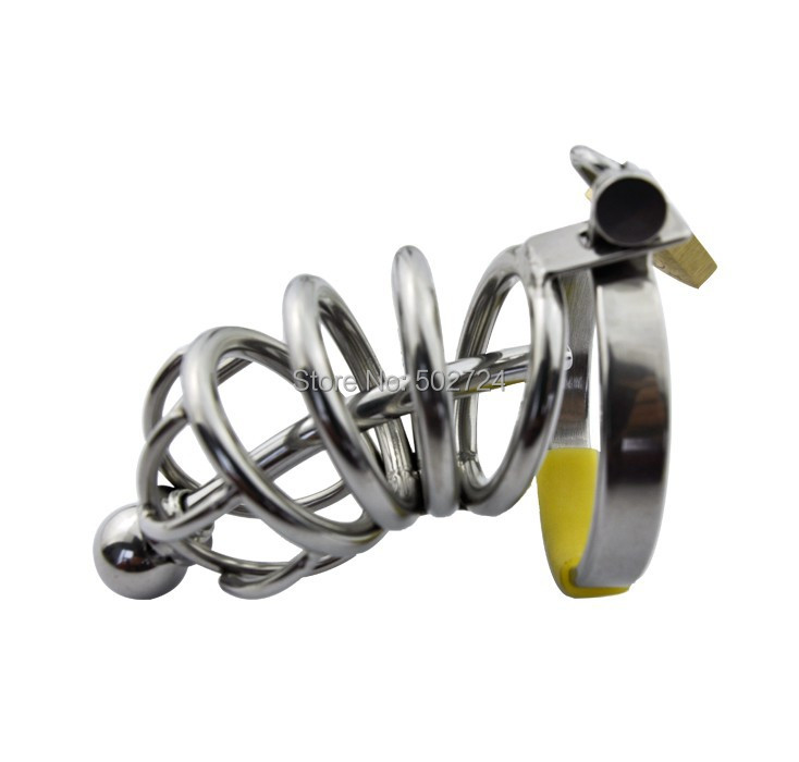 Adult Games Male Chastity Device W/ Catheter Cock Cage Virginity Lock Penis Ring Chastity Belt Penis Cage For Men