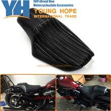 Motosiklet Sürücüsü Için Ön Arka Yolcu Koltuk Iki Yukarı Koltuk Siyah Harley Sportster XL883 XL1200 Demir 48 72, özel 2010-2016