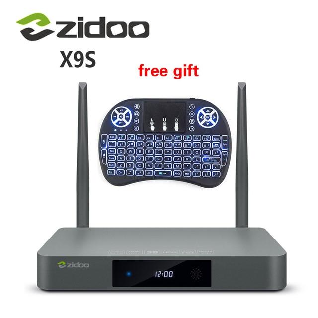 [Genuine] x9s zidoo tv box android 6.0 + openwrt (nas) Realtek RTD1295 2G/16G 802.11ac WI-FI Bluetooth 1000 M Media Player