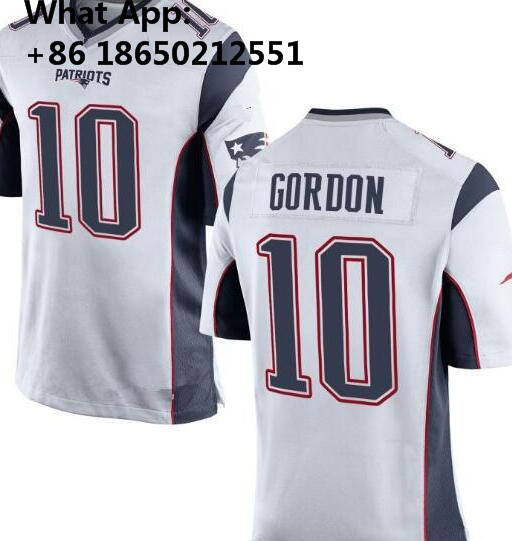 new product 40190 8a25c New 12 Tom Brady Patriots 10 Josh Gordon Jersey 87 Rob ...