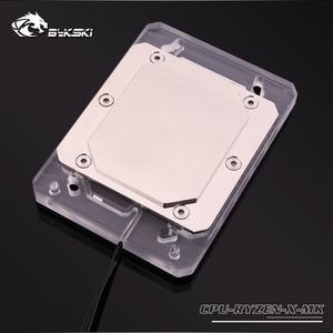 Image 5 - Bykski CPU con radiador de cobre y luz RGB de 5V y 3 pines, bloque de agua, para AMD RYZEN3000 AM3 AM3 + AM4 1950X TR4 X399 X570
