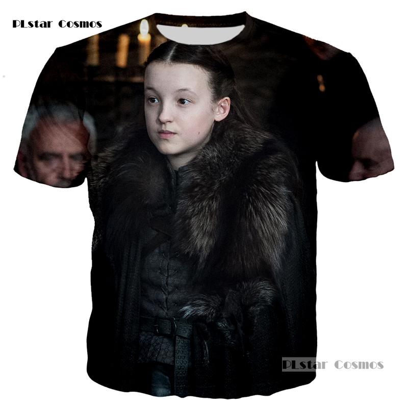 PLstar Cosmos brand Game of Thrones Laianna 3D fashion printing T-shirt men and women neutral short-sleeved shirt S-5XL