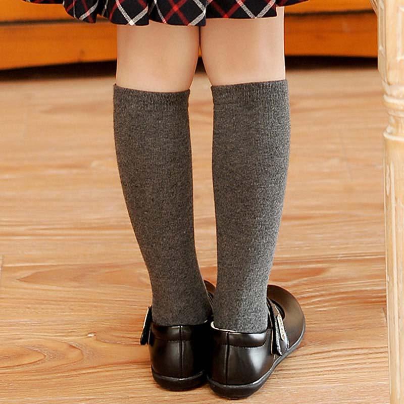 Knee High Socks Kids Boys Girls Long Tube Socks For School -3855