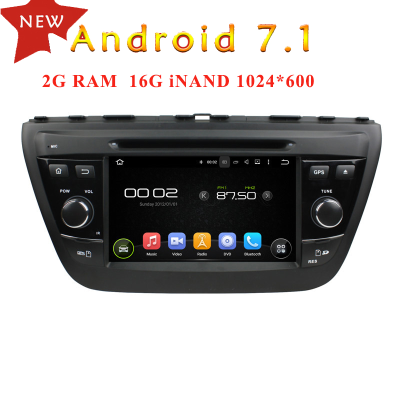 WANUSUAL 7 Quad Core 16G 2G RAM Android 7.1 Car Radio Player for Suzuki SX4 2014 for Suzuki S Cross 2014 with GPS BT WIFI Maps