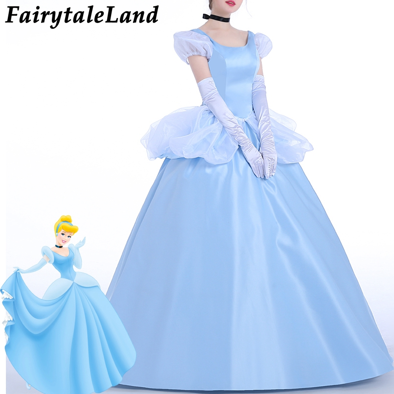 Cartoon Cinderella Cosplay Costume Fancy Cinderella Dress ...