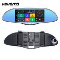 Автомобильный видеорегистратор Камера рецензент зеркало универсальный цифровой видео Регистраторы Камера Двойной объектив заднего 1080 P п