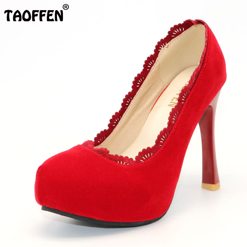 TAOFFEN Women Thin High Heel Shoes Platform Pointed Toe Brand Female  Heeled Pumps Heels Shoes Plus Big Size 30-48 P16619 100% new good working high quality for washing machine computer board mg52 1002 board