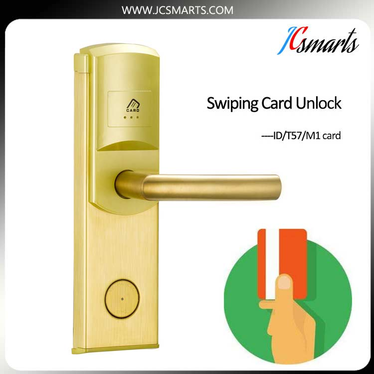 Mute electronic lock hotel door lock qr code RFID lock with software for star hotel room management digital electric hotel lock best rfid hotel electronic door lock for hotel door et101rf