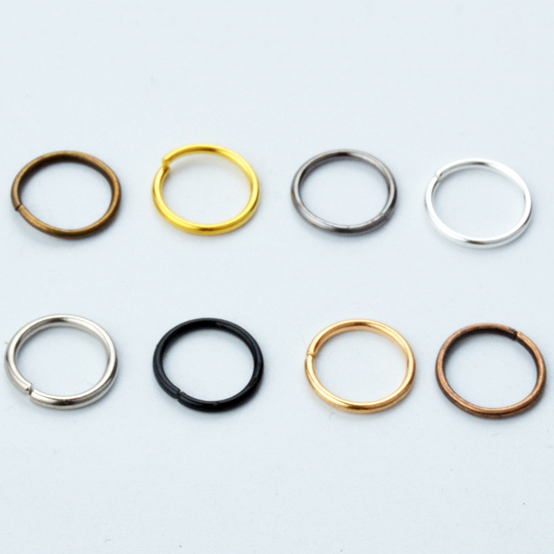 200pcs Jewelry Findings Necklace Connector Jump Rings Open Loops Links Hooks Clasps Bracelet Spacer Beads Cord Charms Dangle