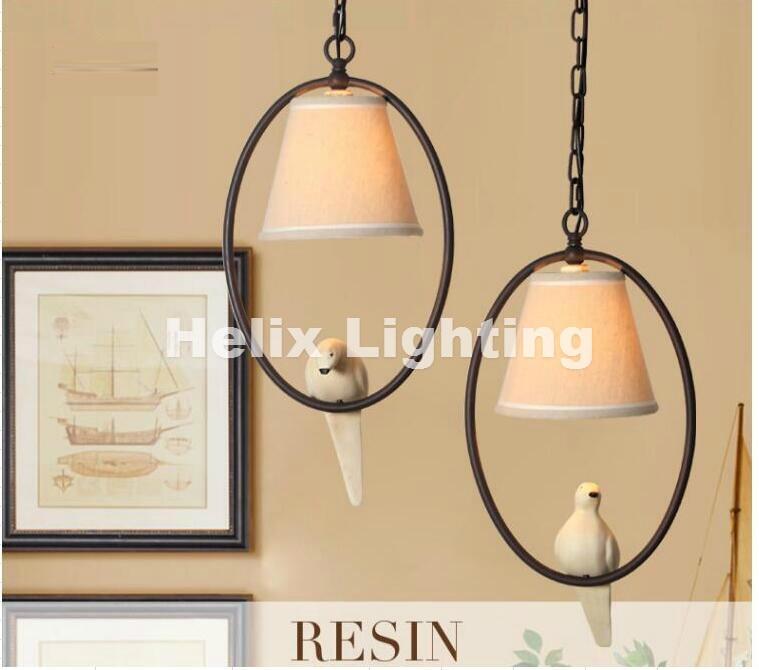 New Arrival E27 Nordic Retro Iron Lamp Cute Bird Industrial Pendant Lamp Lighting Attic Living Room Art pendant lamp Lighting