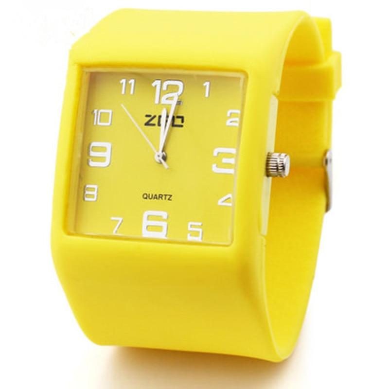 ZGO Hombre Mujer Deportes Relojes de Cuarzo niños jalea caramelo de silicona relojes de silicona moda casual estudiantes regalos relojes