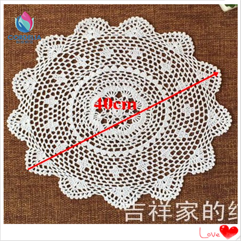 4 Pcs 2016 Fashion Zakka 40cm Round Chic Cotton Crochet Tea Pot