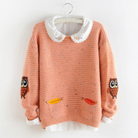 Simplee Turtleneck Knitted Pullover Short Sweater Women Loose O Neck Femme Autumn Winter 2017 Warm Knitting