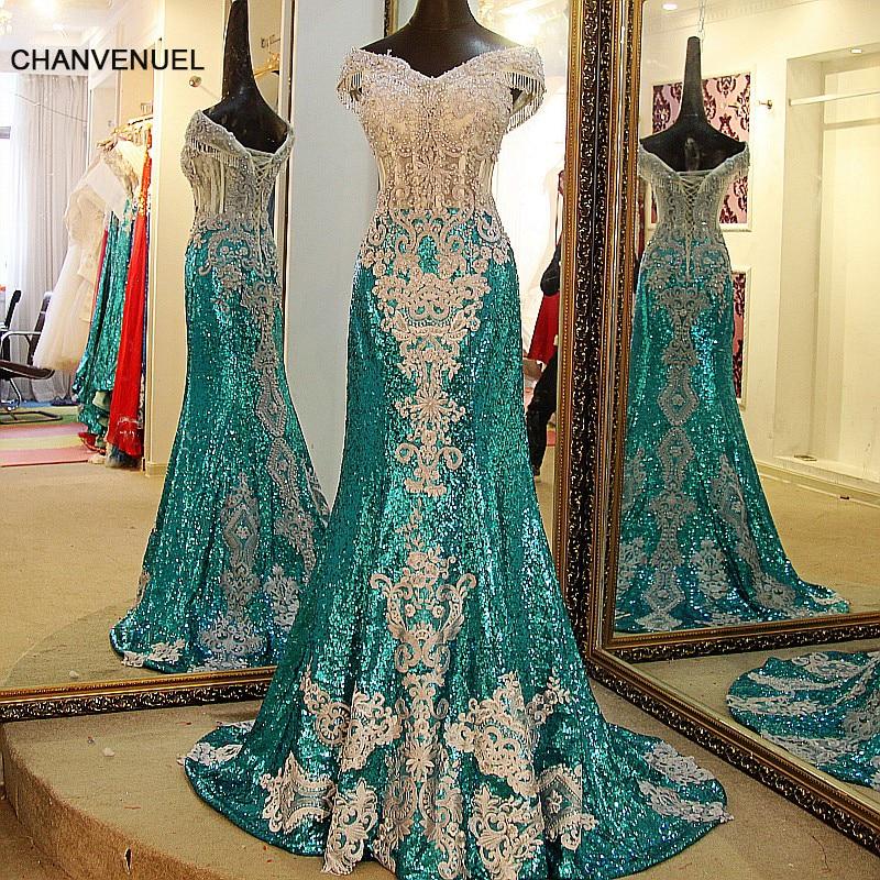 LS07732 party dresses long shiny sweetheart green mermaid evening dress short sleeves corset back sexy long prom dress