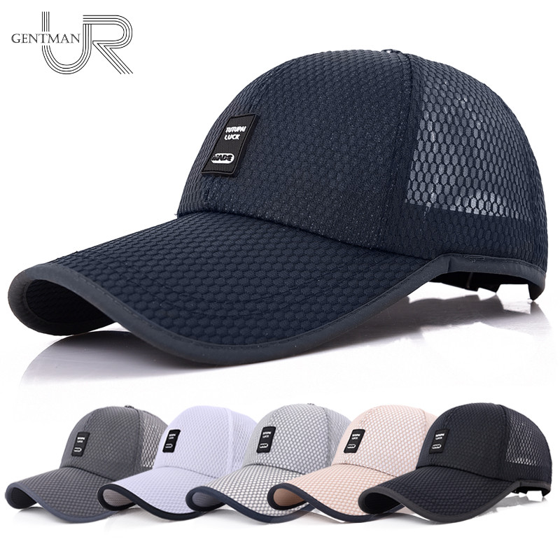 2018 Unisex Sports Cap Mens Womens Casual Cap For Fishing Outdoor Baseball  Cap Long Visor Summer Mesh Dad Hat Sunshade Hat Caps 68c24af7d2c