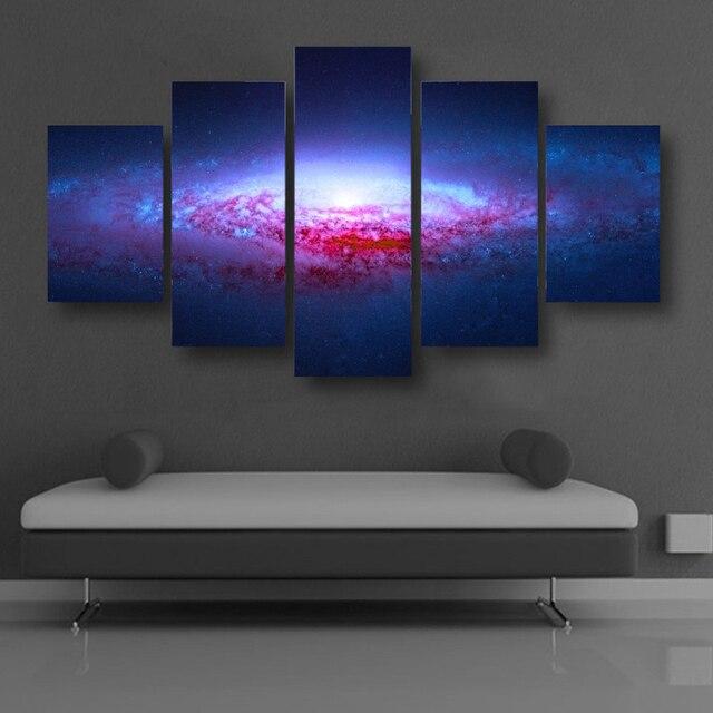 rahmenlose abstrakte kunst leinwand malerei fantasie universum planeten cuadros decoracion mauerbilder fr wohnzimmer modularen bilder