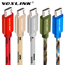 VOXLINK Micro USB Cable 2A fast Charging Micro Data Cable for Samsung/xiaomi/lenovo/huawei/HTC/Meizu Android Mobile Phone Cables(China)