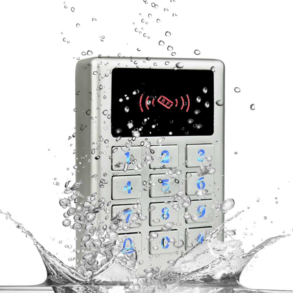 IP68 Waterproof Access Control Keypad Standalone Metal Case Card Reader Door Access Control System for Outdoor F1675D