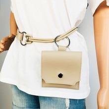 2019 Waist Pack Women Fanny Bag Leather Belt Pocket Fashion Adjustable Mini Purse Luxury