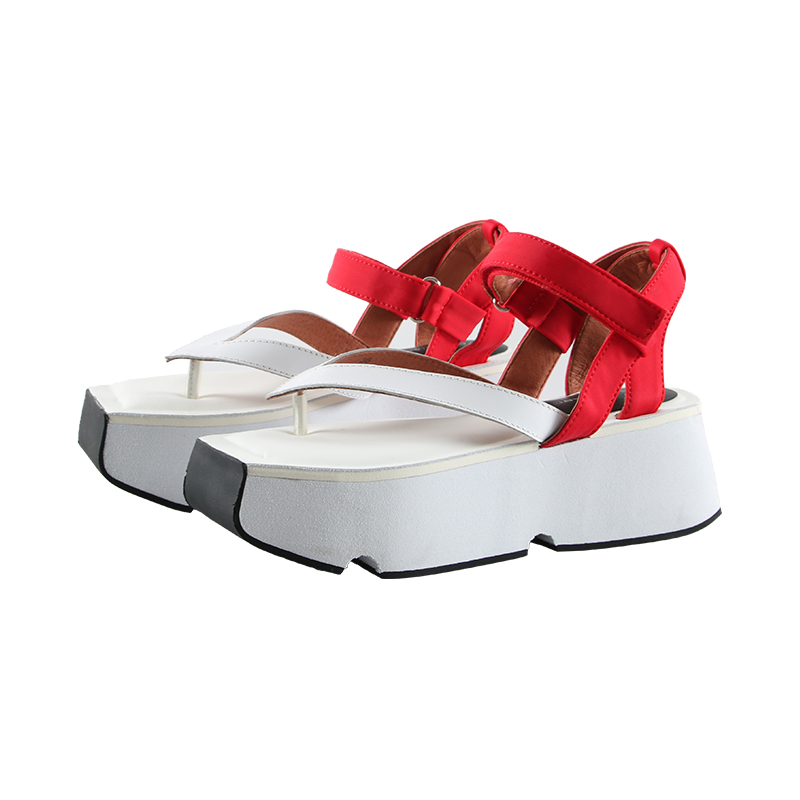 Women s Chunky Sandals 2019 Summer High Heels Casual Female Shoes Genuine Leather Woman Platform Shoes