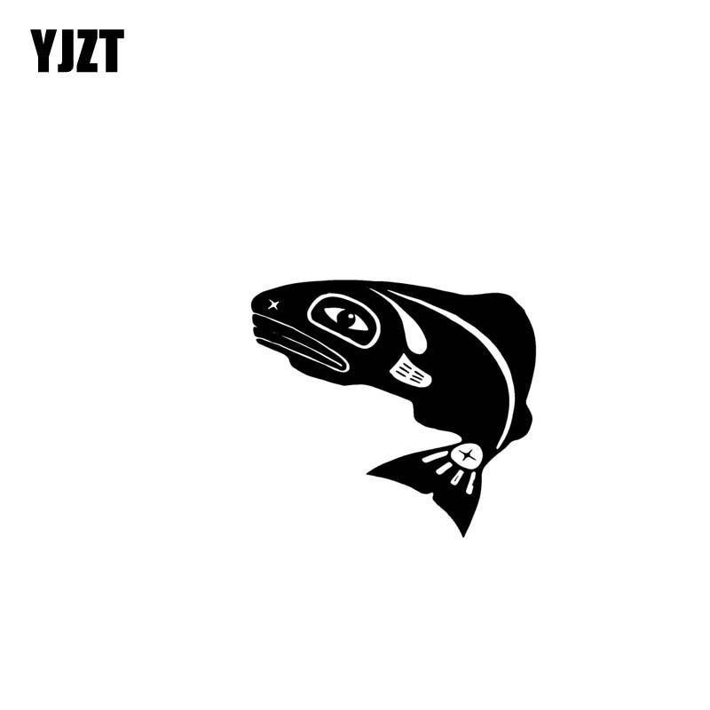 YJZT 17.8CM*16.1CM Little Fish Adventure Vinyl Black Silver Car Sticker Decals Motorcycle C13-000470
