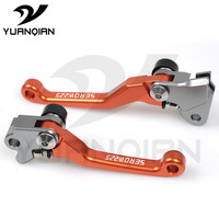 Universal Motorcycle CNC Aluminum Shorty Adjustable Brake Clutch Levers FOR Yamaha Serow 225 250 1986 2015