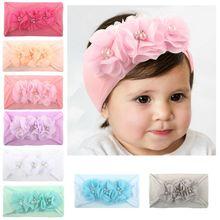 New Children Headdress Summer Thin Section Flower Style Baby Hair Band Soft Headwear Hairband