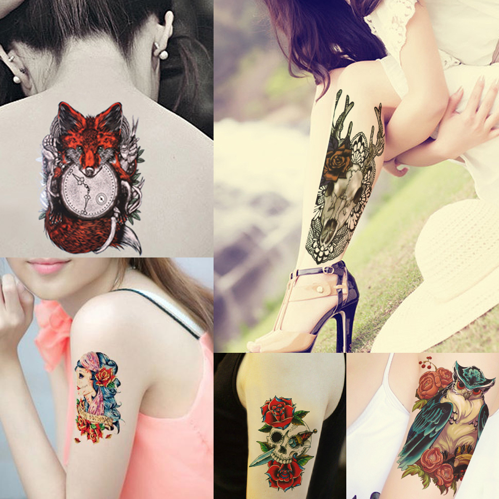 Peacock flower tattoo designs - Aliexpress Com Buy 1 Sheet Colorful Peacock Drawing Peony Flower Tattoo Design Hb564 Sexy Women Men Body Art Temporary Tattoo Sticker Decal Product From