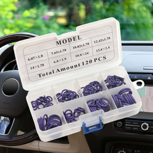 120Pcs HNBR Car Van Air Conditioning Rubber Washer O Ring Seal Assortment Set car-styling